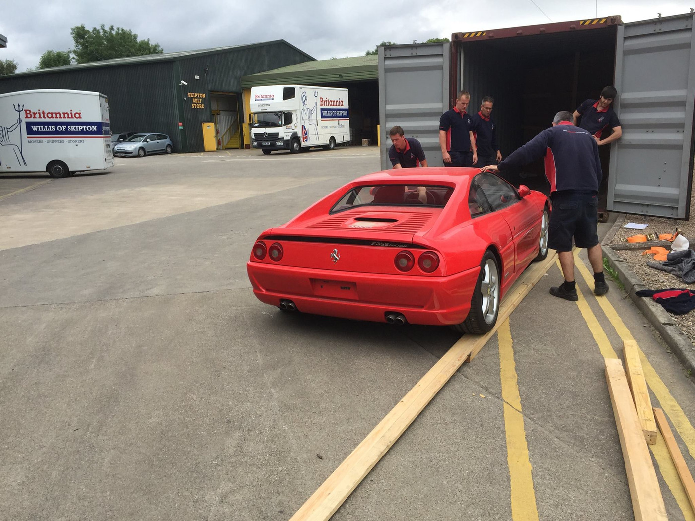 Ferrari into Shipping Container to UAE